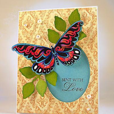 Social Butterfly Card {Stamping Videos}