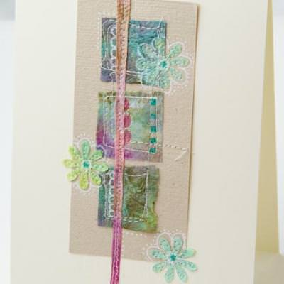 Stamped, Punched then Collaged Paper Towels {How To Paper Idea}