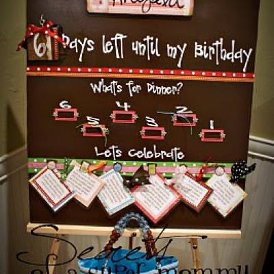 The Birthday Countdown Board {Paper Craft Ideas}