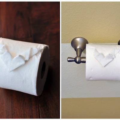 Toilet Paper Heart {Origami}
