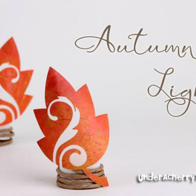 Dress Up Your Tealights for Fall {Silhouette}