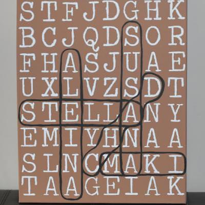 Use contact paper to create Word Art