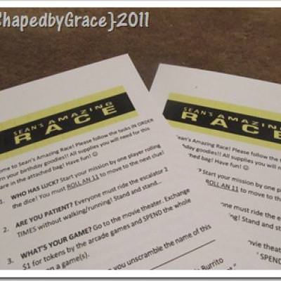 Amazing Race {Birthday Party Games}