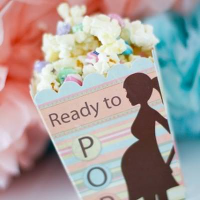Baby Shower Popcorn Party Favor {recipe}