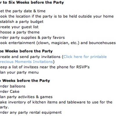 birthday party checklist tip junkie