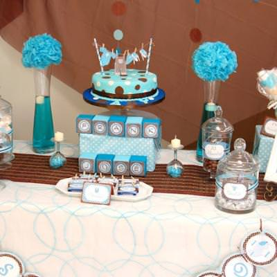 Brown and Blue Boy Baby Shower