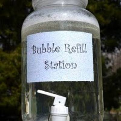 Bubble Refill Station {and recipe}
