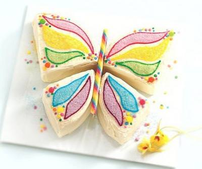 Butterfly Birthday Cake {How-To}