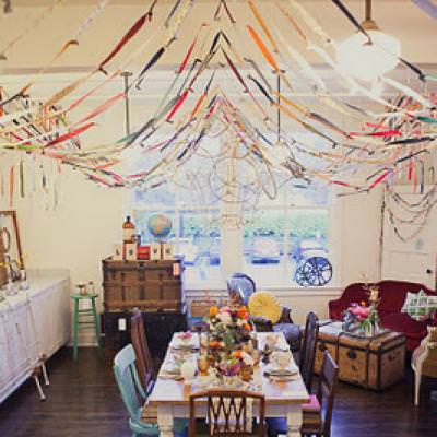 Fabric Scrap Streamers {DIY Party Decorations}