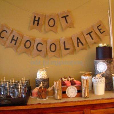 Hot Chocolate and Crafting {Party Ideas}