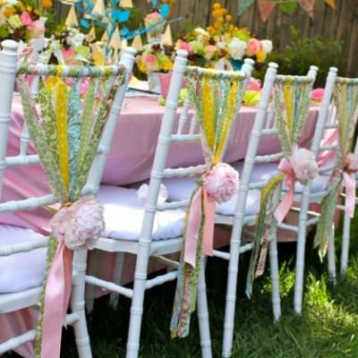 How-to Decorate with Chair Ribbons