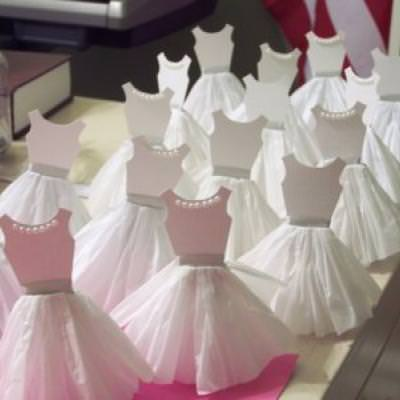 How to Make Paper Dress Cupcake Toppers {Party Decor}