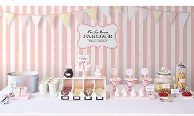 Ice Cream Parlor Party Theme {Free Printables}