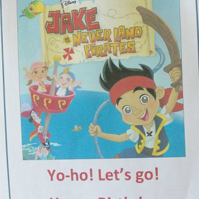 Jake & the Neverland Pirates Birthday Party