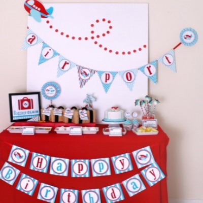 Let's Fly Away Plane Party {Boy Party Ideas}