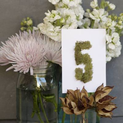 Moss Table Numbers {Wedding Ideas}