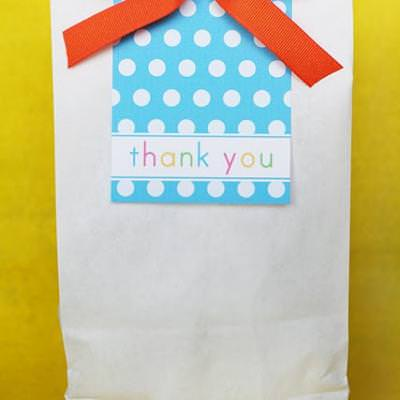 Party Bags {Printable Thank You Gift}
