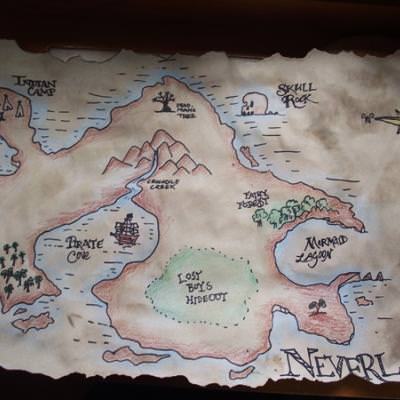 Peter Pan Party Plan - plus Map of Neverland