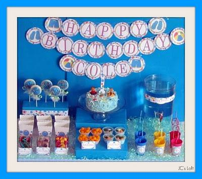 Pool Party Themed First Birthday Party