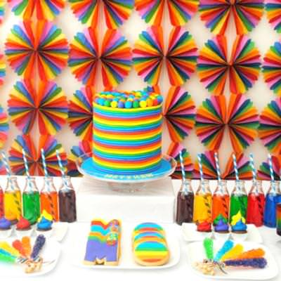 Rainbow Party {Birthday Themes}