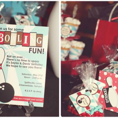 Retro Bowling Party {Kids Birthday Party}