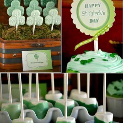 St Patrick's Day Green Ombre Party