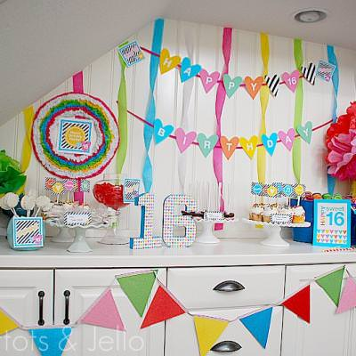Surprise sweet 16 party sweet sixteen party ideas tip for Home sweet home party decorations