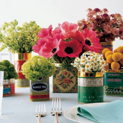 Tea Tin FLoral Arrangements