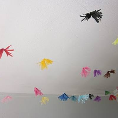Tissue Paper Pom Pom Garland {Celebrations}