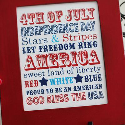 4th of July Subway Art {Patriotic Quotes}