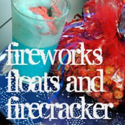 Firecracker Float and Popcorn {Fireworks}
