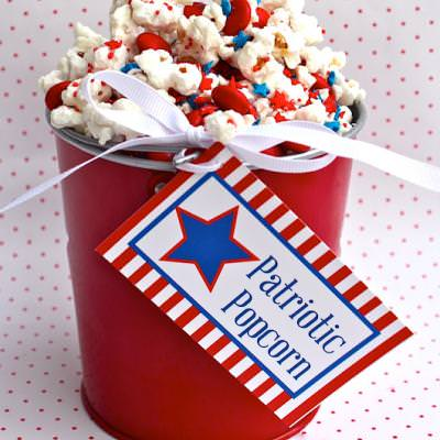 Patriotic Popcorn Treat {Activities for Kids}