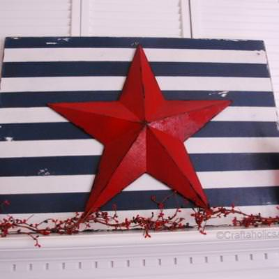 Patriotic Star and Stripes Holiday Decor {Crafts}