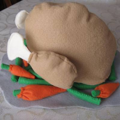 Felt Turkey and Veggies {Free Pattern}