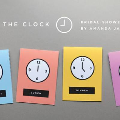 Around The Clock Bridal Shower Invitations Free Printables Tip