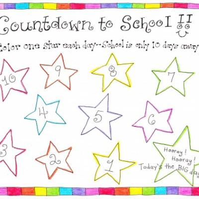 Back to School Countdown Printable!