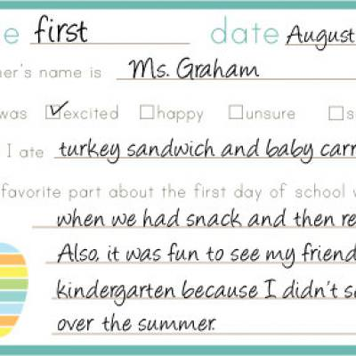 Back to School Memory Card {Free Printables}
