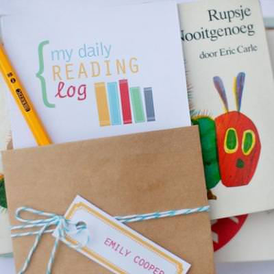 Back to School Reading Log and Treat Tag
