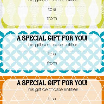 Blank Gift Certificates {Saving Money}