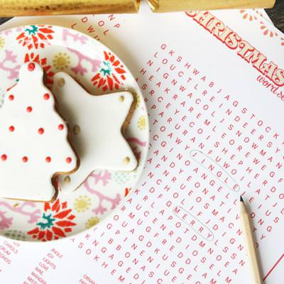 Christmas Word Search {Printable Word Search}