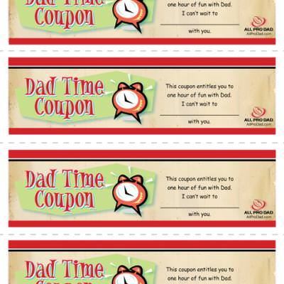 Dad Time Coupons Tip Junkie