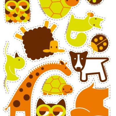 DIY Woodland Creature Stickers