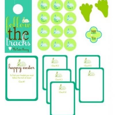 Easter Basket Scavenger Hunt {Printables}