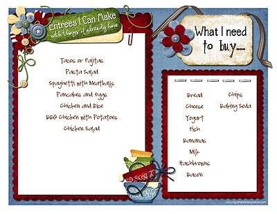 EZ Kitchen Menu Planner