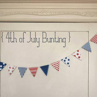 Printable 4th of July Bunting and Mini Flags
