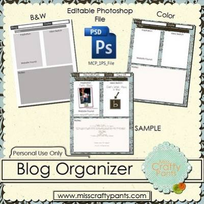 Free Blog Organizer {printable worksheet}