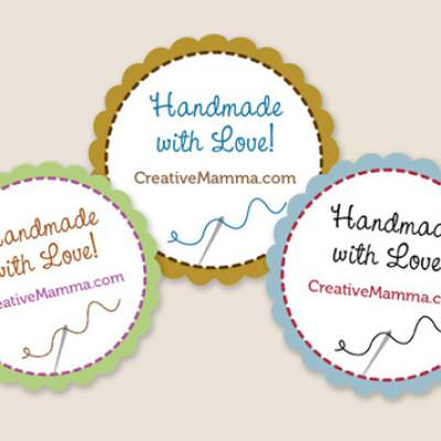 Free Customizable Crafty Stickers {Handmade}