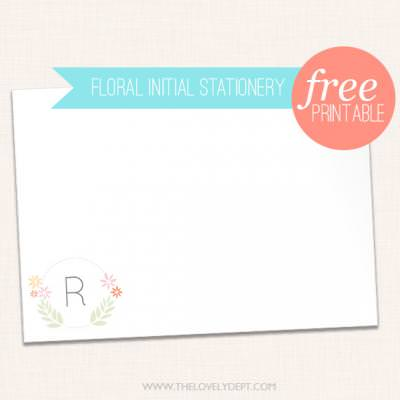 Free Customizable Stationary Notes {Printable}