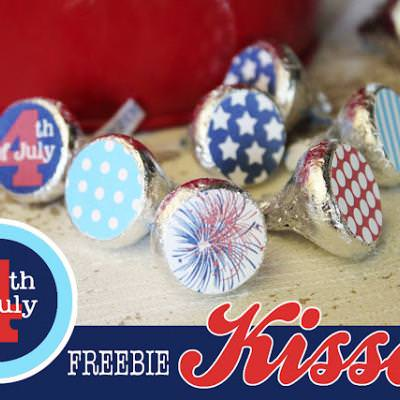 FREE July 4th Hershey Kiss Printables Circles