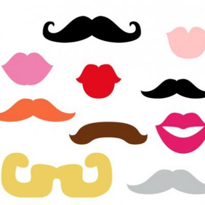 FREE Photo Booth Printable Lips and Mustaches